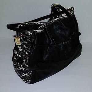 Coach Phoebe Black & White Shoulder Bag